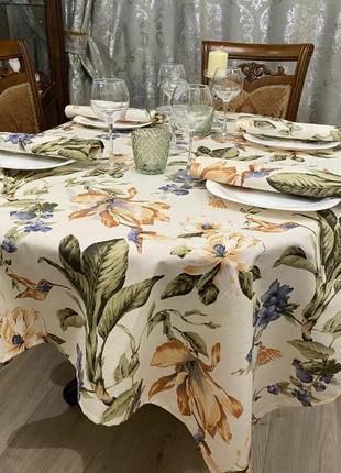 Комплект скатерть и салфетки с тефлоновой пропиткой