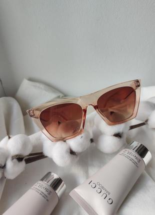 Очки окуляри стильные шампань цветные трендовые новые6 фото