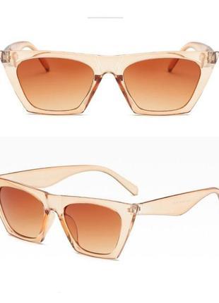 Очки окуляри стильные шампань цветные трендовые новые7 фото