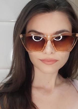 Очки окуляри стильные шампань цветные трендовые новые9 фото