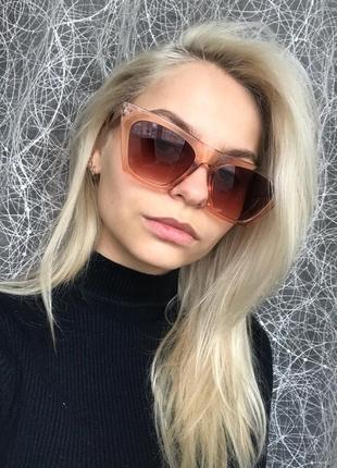 Очки окуляри стильные шампань цветные трендовые новые2 фото