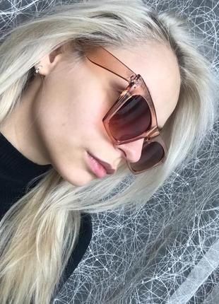 Очки окуляри стильные шампань цветные трендовые новые3 фото