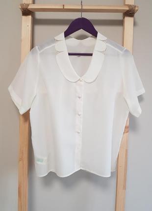 Блуза с воротником