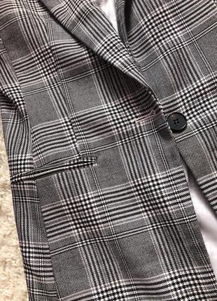 Пиджак клетчатые серый h&m