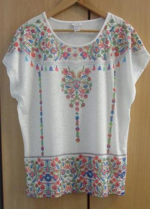 Супер брендовая футболка блузка  блузка хлопок mona
