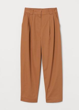 Широкие брюки коричневый h&m
