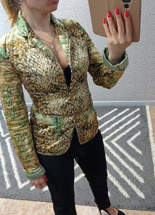 Шикарный стёганый пиджак roberto cavalli италия
