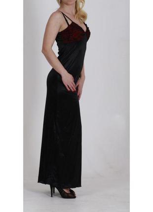 """Черно-бордовое платье длинное в бельевом стиле """"xanaka"""""""
