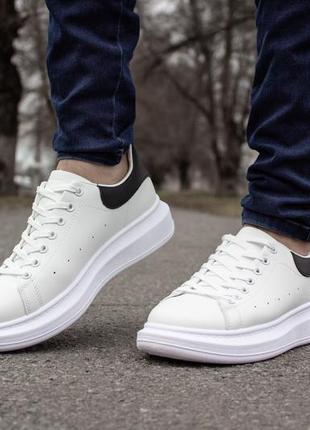Мужские спортивные весенние белые кроссовки, стильная весенняя обувь