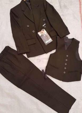 Акция! новая школьная форма костюм-тройка (пиджак, жилетка, брюки)