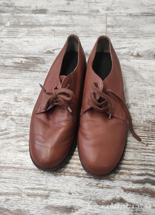 Кожаные туфли, англия, 27,5 см. по стельке