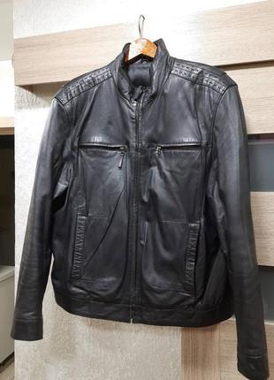 Мужская кожаная куртка демисезонная