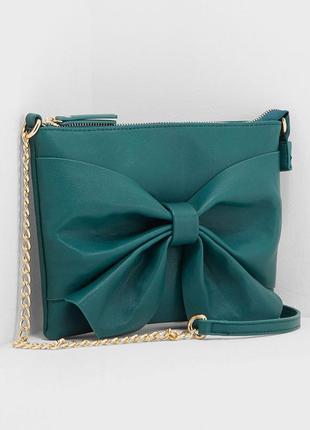 Новая изумрудно-зеленая сумочка pieces