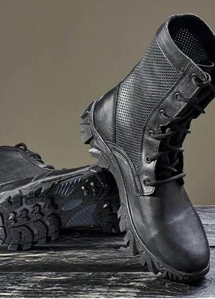 Берци летние натуральная кожа ботинки тактические