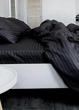 Комплекты постельного белья страйп сатин пакистан всех размеров, постільна білизна страйп