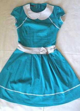 Бирюзовое платье для юной леди