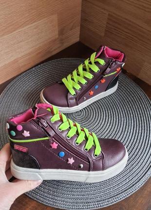 Хайтопы, ботинки деми clibee