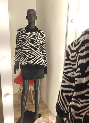 Нереальный актуальный свитер зебра 🦓2 фото