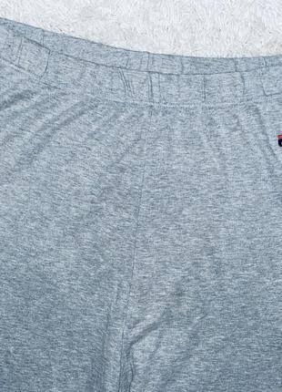 Серые штаны  оригинал fila  котон высокая талия