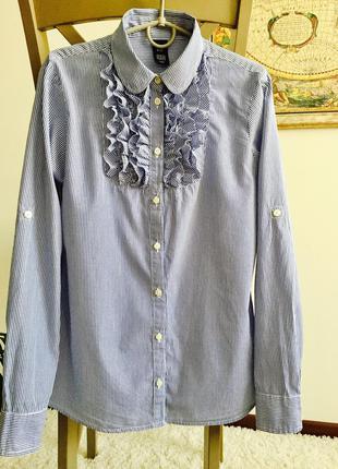 Крутая ультрамодная полосатая рубашка, блузка от gap uk8