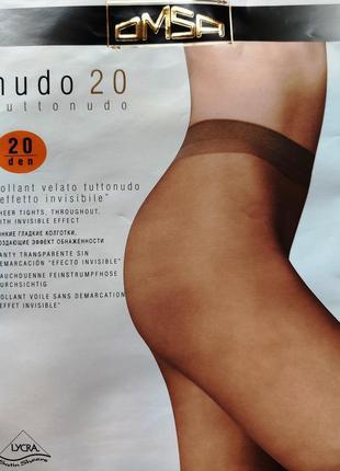 Классические колготки omsa nudo (италия)
