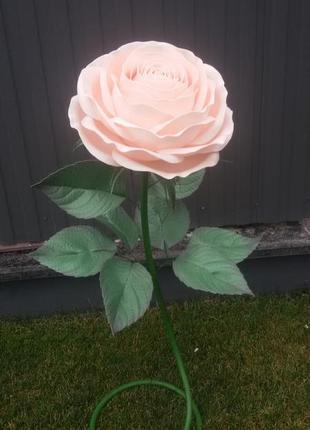 Торшер роза из изолона ручной работы