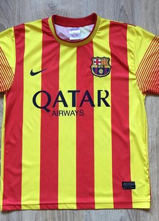 Подростковая футбольная джерси футболка nike fc barcelona messi