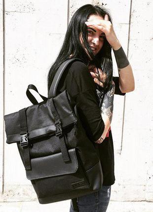 Черный городской рюкзак harvest - roll, black