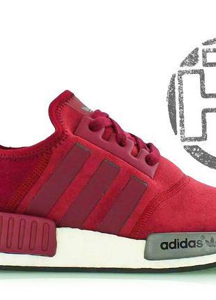 Замшевые кроссовки adidas nmd r1 maroon s75231
