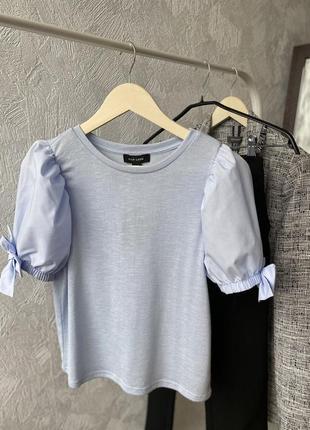 Крута футболка з обємними рукавами new look