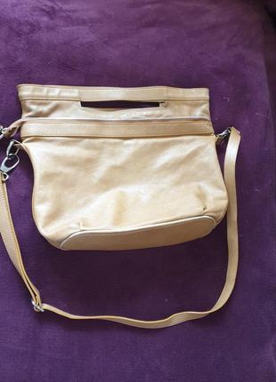 Женская итальянская сумка из натуральной кожи.