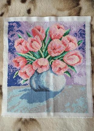 Тюльпаны картина вышивка крестиком