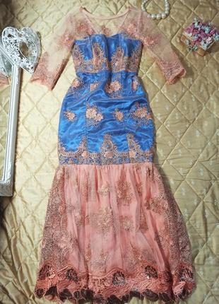 Платье выпускное випускне вечернее шикарное пайетки паетки паєтки весільне свадебное