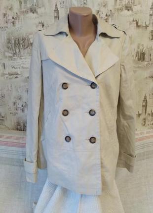 Льняной пиджак, бежевого цвета, размер l, фирма next