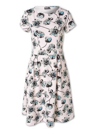 Платье миди цветы цветное