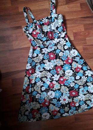 Платье сарафан широкие бретели