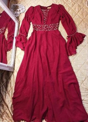 Платье вечернее выпускное свадебное нарядное сукня вечірня стрази паєтки пайетки