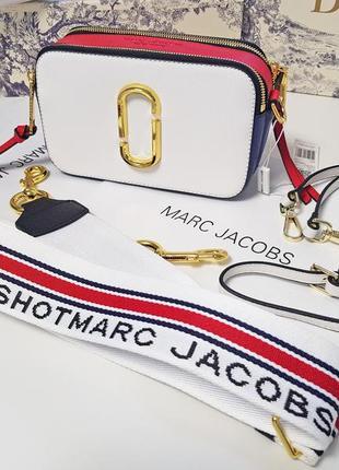 Кожаная оригинальная сумка-клатч через плечо marc jacobs