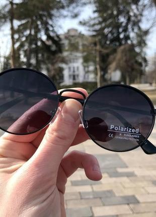 Распродажа! очки круглой формы без бренда (темно-фиолетовый оттенок линз)