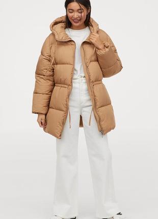 Дутая куртка с капюшоном h&m