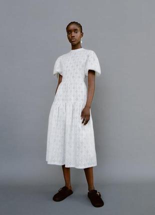 Zara платье с вышивкой, s3 фото