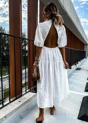 Zara платье с вышивкой, s2 фото