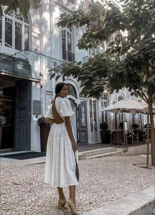 Zara платье с вышивкой, s8 фото