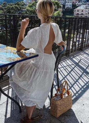 Zara платье с вышивкой, s4 фото