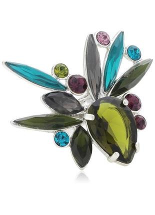 Кольцо с кристаллами pilgrim дания элитная ювелирная бижутерия ручной работы