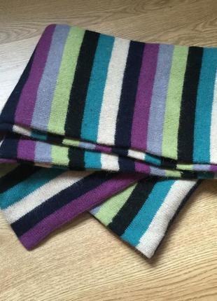 Как новый длинный шерстяной шарф в полоску accessorize
