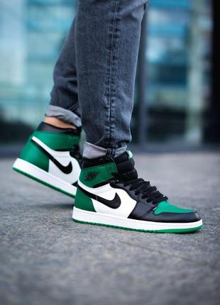 Мужские кроссовки nike air jordan 1 retro high pine green