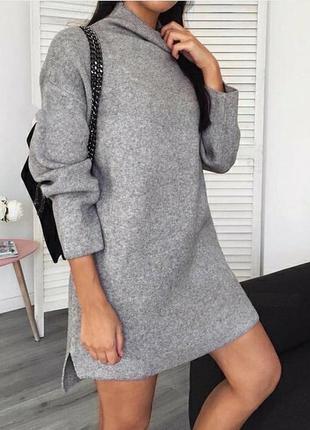 Платье туника трехнитка на флисе1 фото