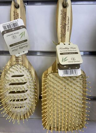Щетка бамбуковая og olivia garden/healthy hair eco-friendly bamboo brush