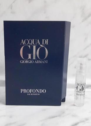 Acqua di gio profondo giorgio armani пробник мужской